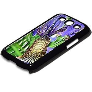 Colección 15, Custom Samsung Galaxy S3I93003d de piel elección de TPU duro Carcasa piel Shell, silicona plástico, Flores 10026, PC Textura Negro