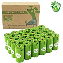 PET N PET Earth-Friendly 360 Counts Dog Poop Bags Doggie Waste Bags Unscented ( 24 Refill Rolls )