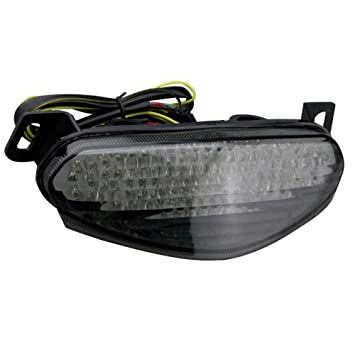 GZYF Smoke Integrated LED Tail Light Turn Signals For Kawasaki Ninja 650R ER-6 09-10