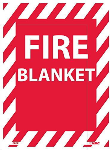 FBPP National Marker Fire Blanket Sign, 12 Inches x 9 Inches, Ps Vinyl