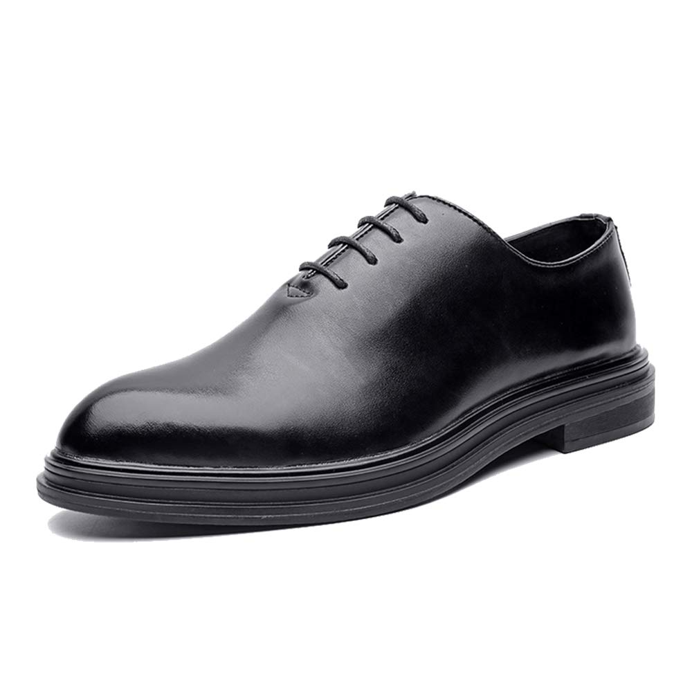 Hilotu Mens Business Oxford Shoes Fashion Classic Solid Color Gentleman Style Formal Wedding Prom Dress Shoes
