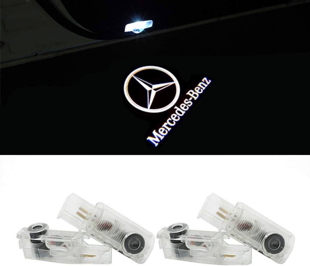 For 4R QJZoncuji 4 Pieces Door Light Projector Logo Door Entry Light Welcome Light