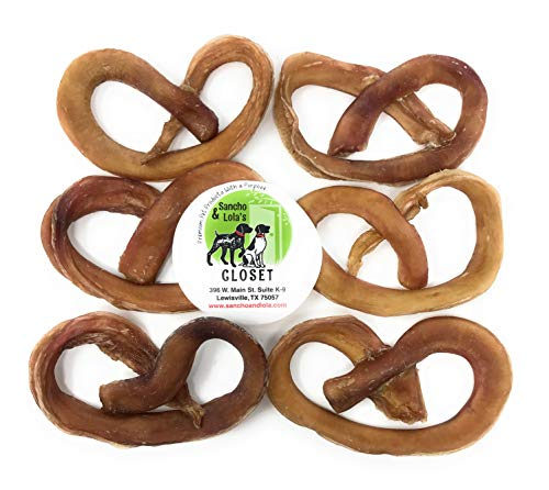 (Sancho & Lola's 6-Count Pretzels Bully Sticks for Dogs Made in USA for Small to Medium Dogs Rawhide-Free)