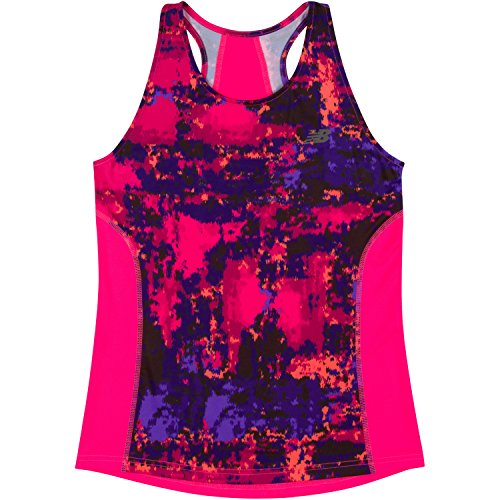 New Balance Little Girls' Athletic Tank Tops, Pink/Abs Br...