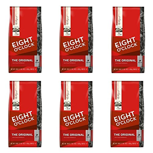 Eight O'Clock Whole Bean Coffee, The Original, 36 Ounce, Pack of 6 by .