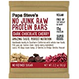 Papa Steve's No Junk Raw Protein Bars, Dark Chocolate Cherry 2.2 Oz, 10 Count