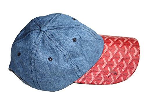 c4fd010d51e Goyard DAD Baseball Cap (Navy Blue Red)  Amazon.co.uk  Clothing