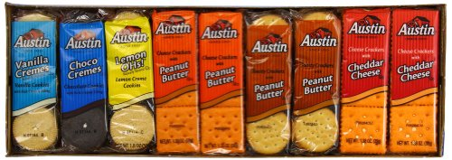 Austin Cookies and Crackers Variety Pack, 45 Count
