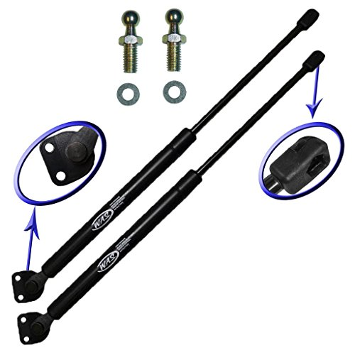 Two Rear Hatch Gas Charged Lift Supports for 1997-2006 Mitsubishi Montero Sport, 1997-2006 Mitsubishi Montero. Left and Right Side. WGS-437-2 -