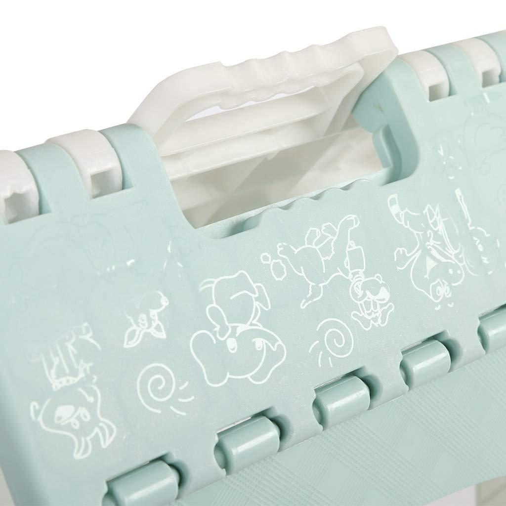 Klappbarer Tritthocker Leichter Tritthocker mit Griff f/ür Kinder Erwachsene Dicke Kunststoff Klappbarer Hocker Home Outdoor