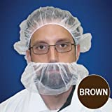 Beard Nets, Nylon Honeycomb, Brown, 1000/case