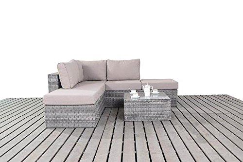 Modern Klein Rattan Garden Corner Sofa 2 Und 3 Sitzer