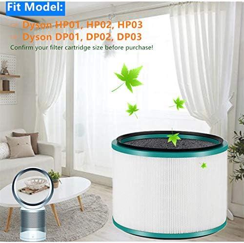 Filtro Purificador para Dyson HP02 Pure Hot + Cool Link y Dyson DP01 Purificador de Aire de Sobremesa, Blanco: Amazon.es: Hogar