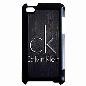 Ipod Touch 4th CK Logo Design Phone Case Calvin klein Black Hard Plastic Cover JM
