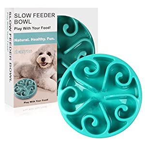 Siensync Slow Feeder Dog Bowl, Non Slip Puzzle Bowl Fun Feeder Interactive Bloat Stop Dog Bowl, Eco-Friendly Non Toxic Bamboo Fiber Slo Slow Feed Dog Bowl for Large Medium Small Dogs 1