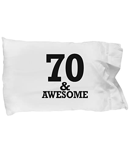 Image Unavailable Not Available For Color Gifts 70 Year Old Man Pillow Case