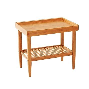 XXHDYR Algunas Esquinas del Sofá Algunas Mesas IKEA Moderno Minimalista Sala De Estar De Bambú Mesa ...