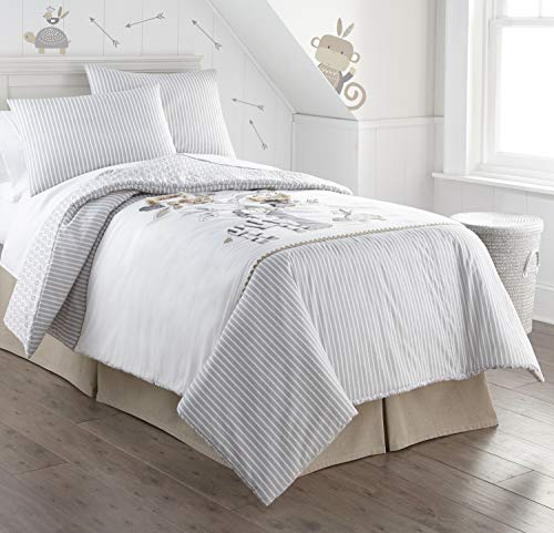Levtex home Kenya Quilt, Full/Queen, Natural, Grey, Taupe