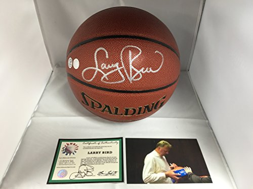 Larry Bird Autographed Signed Basketball Schwartz Sports Larry Bird COA & Hologram