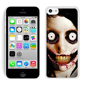 New Fashion Custom Designed Cover Case For iPhone 5C With jeff the killer White Phone Case