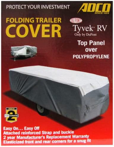"Adco 12/'1/"" To 14/' Tyvek Folding Trailer Cover 22893 RV"