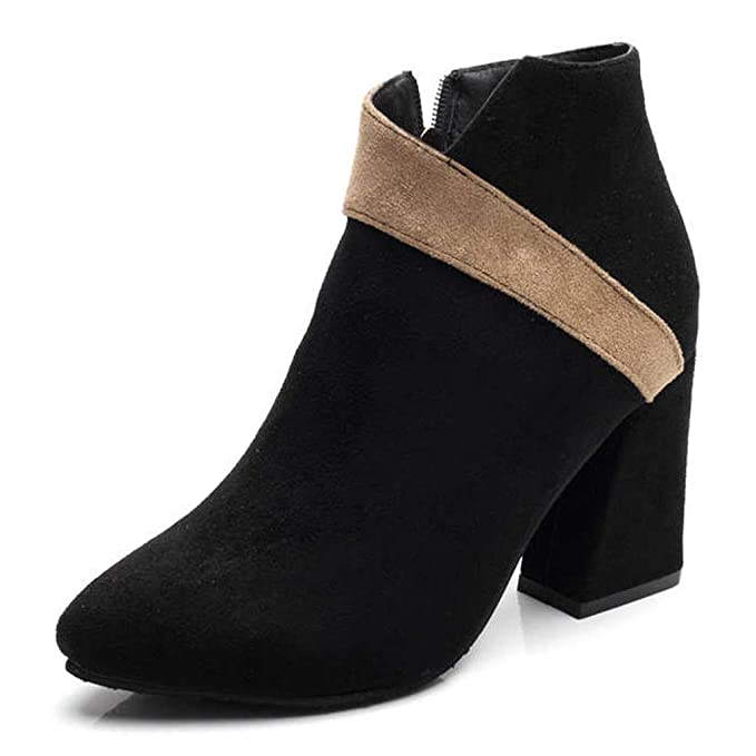 1a4e5430d4e80 Amazon.com: Cenglings Ankle Boots,Women's Sexy Pointed Toe Zipper ...