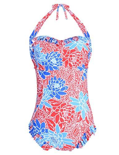 Hilor Vintage Ruffled Swimsuit Bathing product image