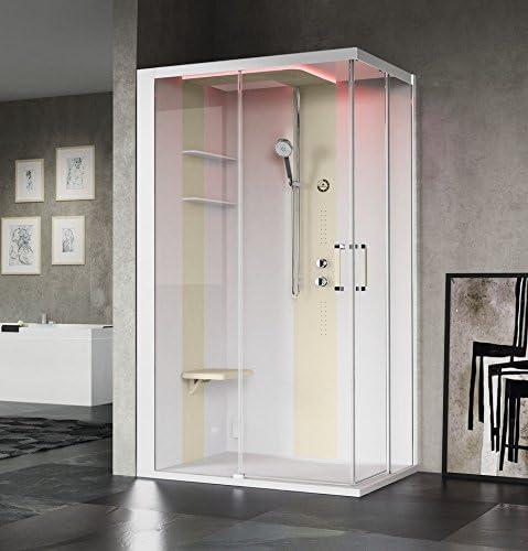 Cabina de ducha 120 x 80 cm skill Novellini en version Essentiel o ...