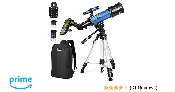 Amazon telmu telescope mm aperture refracting telescope