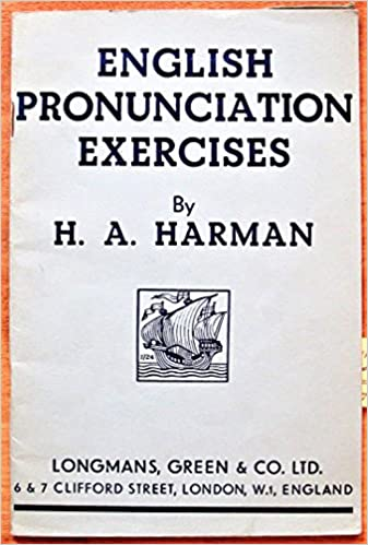 English Pronunciation Exercises: Amazon co uk: H A  Harman