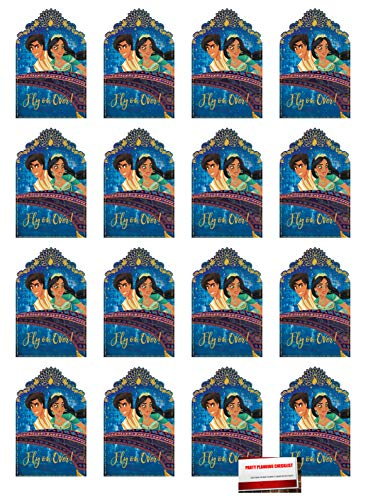 (16 Pack) Aladdin Postcard Style Party Invitations with Envelopes, Seals and Save The Date Stickers (Plus Party Planning Checklist by Mikes Super Store)