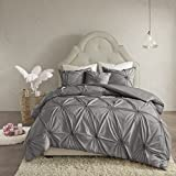 Madison Park Leila 4 Piece Comforter Set Dark Gray Full/Queen