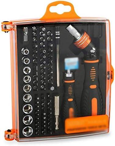LilyAngel ラチェットスリーブ79 in 1家庭用ツールキット車の修理ツール精密ドライバーコンピュータツールキット