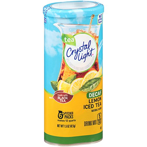 Caffeine Free Iced Tea - Crystal Light Lemon Decaf Iced Tea Natural Flavor Drink Mix, 12-Quart Canister (Pack of 6)