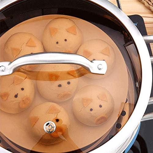 Nologo Épais en Acier Inoxydable Steamer Grande capacité multifonctionnelle marmite à Soupe, Cuisine Saine Méthode-Robuste poignée en Acier BBGSFDC (Size : 24CM)