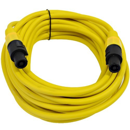 Seismic Audio - TW12S25Yellow - 12 Gauge 25 Foot Yellow Speakon to Speakon Professional Speaker Cable - 12AWG 2 Conductor Speaker Cable