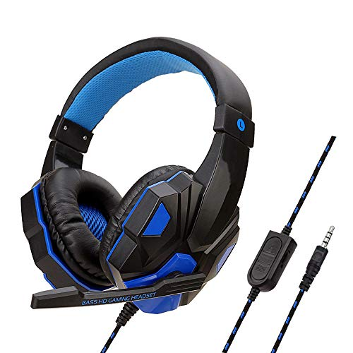 PS4 Wired Headset, PC Gaming Headset Over-Ear Gaming Headphones with Mic Noise Cancelling & Volume Control for Laptop…