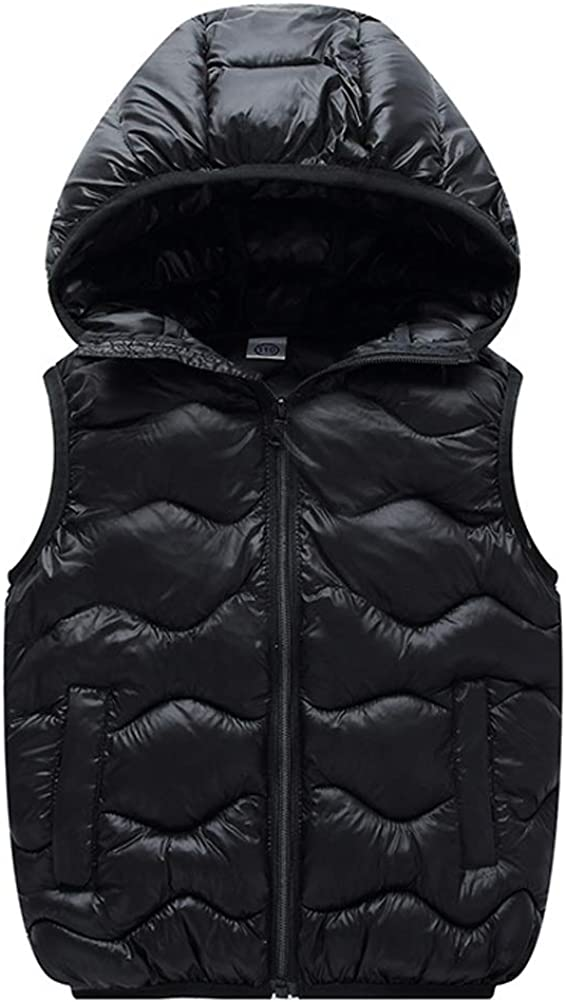 ARAUS Baby Boy Girl Puffer Down Vest Coat Lightweight Packable Outerwear Gilet Winter Hooded Outwear