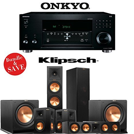 Onkyo TX-RZ810 7.2-Channel Network A/V Receiver + Klipsch RP-280F + Klipsch RP-450C + Klipsch RP-250S + Klipsch R-112SW - 5.2 Reference Premiere Home Theater Package by Klipsch