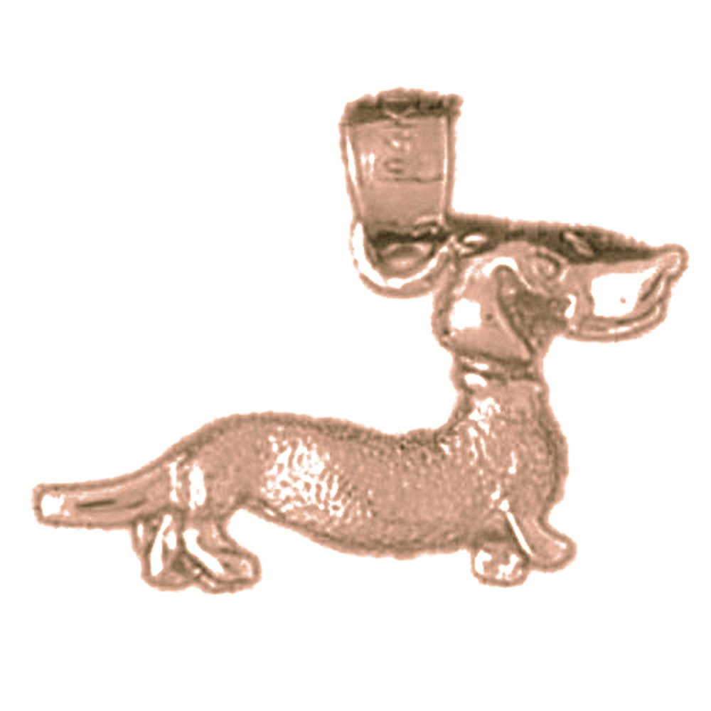 Rose Gold-plated Silver 15mm Dog Pendant