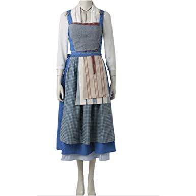 964acc5b06 Amazon.com: X-DEAD Women's Belle Village Dress Deluxe Adult Costume ...