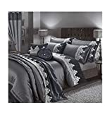 Duvet Covers and Matching Curtains Super Soft Comfortable Faye Alessia Duvet Covers Sets Matching Curtains Throw and Cushions Alessia Charcoal Cushion Cover One Size (43x43Cm)