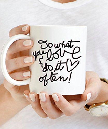 Do What You Love & Do it Often Mug, Inspirational Ceramic Mug, Ceramic Mug, Personalized Ceramic Mug, Wedding Ceramic Mug, 11oz, 15oz, - What It Titanium