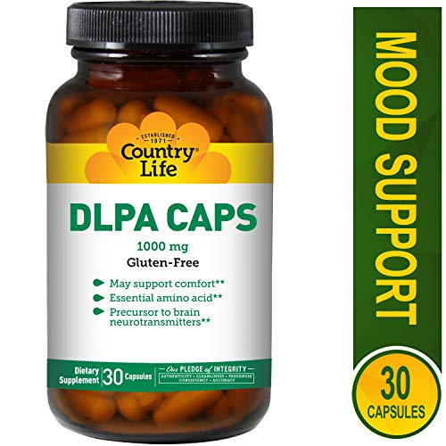 Country Life - DLPA Caps, 1000 mg with B-6 - 30 Capsules