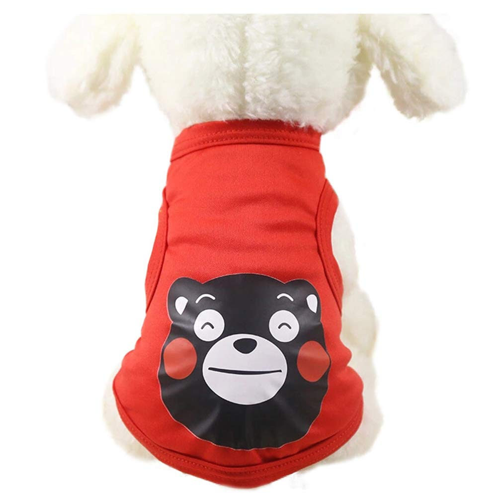 RED L RED L Pet Clothes Dog Clothes Spring and Autumn Thin Puppies Small Dogs cat Clothes Pets (color   RED, Size   L)