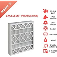 20x25x4 MERV 11 ( MPR 1000 ) 4 Inch Air Filters for AC and Furnace. 6 PACK