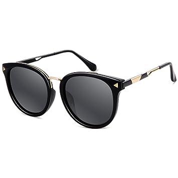 LQQAZY Gafas De Sol Mujer Ola Gafas De Sol Marco Redondo Protector Solar Polarizado Gafas Moda
