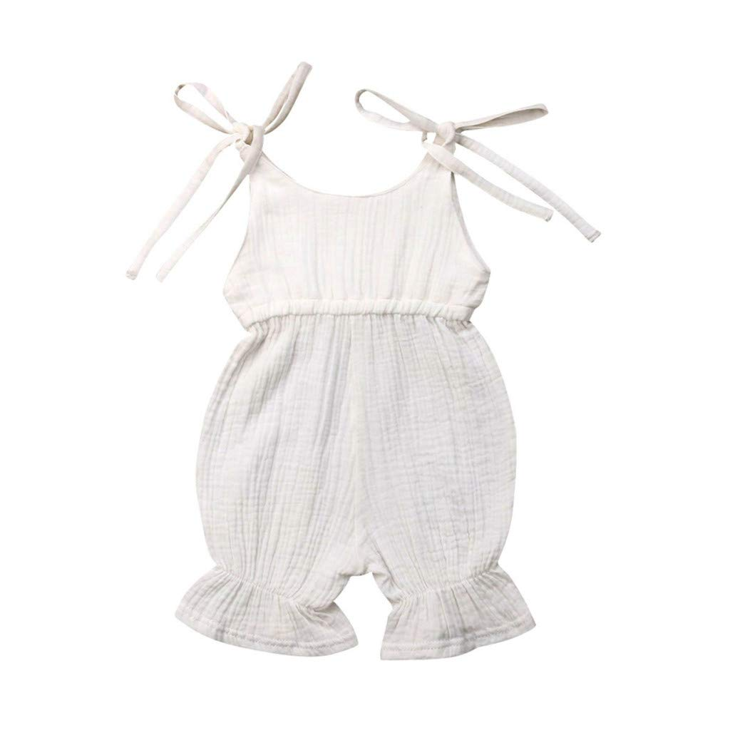 Rompers for Baby Girls Shusuen Bodysuits Cotton Flutter Sleeve One-Piece Summer Casual Outfits Clothes