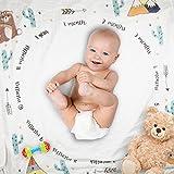 Baby Boy Monthly Milestone Blanket Newborn Photo Props Backdrop, Premium Quality, Infant Baby Swaddling Blanket for Photography