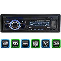 KKmoon KV2169 Universal In-Dash Single-DIN Car CD DVD MP3 FM Player with Aux Input SD / USB Port